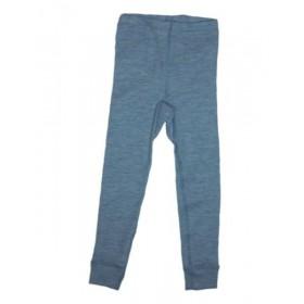 Legging, wol/zijde, jeansblauw (92-164)