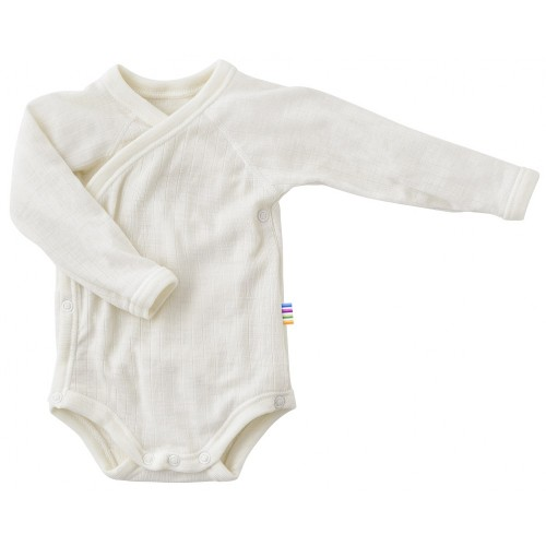 Body long sleeved, wrap around, wool, natural (40-60)