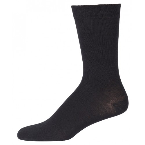 Socks, wool/silk, black (41-48)