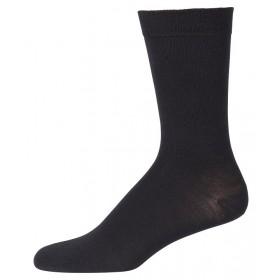 Sokken, wol/zijde, zwart (41-48)