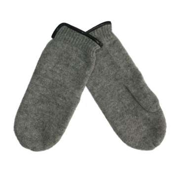 Mittens, wool, grey (7-8)