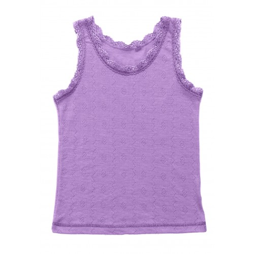 Undershirt, wool/silk, lilac (90-150)