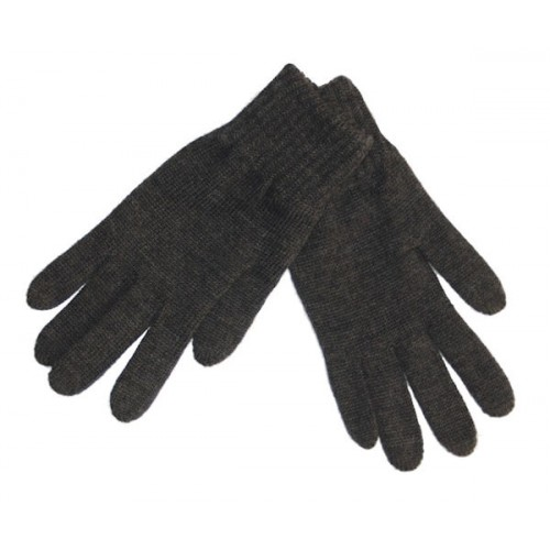 Gloves, wool, anthracite (8-9)