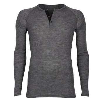 Shirt long sleeved with buttons,, wool, dark grey (4-8)