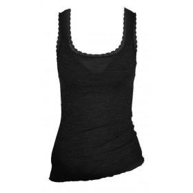 Undervest, wool/silk, black (XS-L)