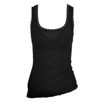 Undervest, wool/silk, black (XS-L)
