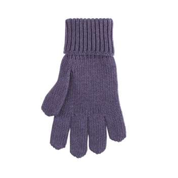 Gloves, wool, purple velvet (5-6))