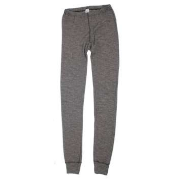 Long johns, wool/silk/cotton, grey (S-XL)