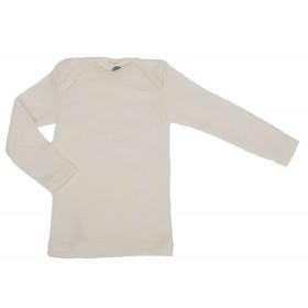 Shirt lange mouw, wol/zijde, naturel (50-80)
