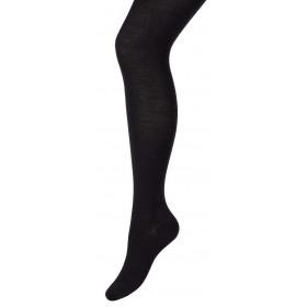 Tights, wool/silk, black (S-XL)