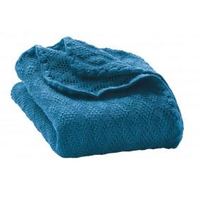 Babydeken, wol, blauw