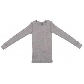 Shirt lange mouw, wol, grijs (98-152)