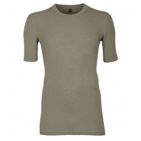Shirt korte mouw, merinowol, olijfgroen (5-8)