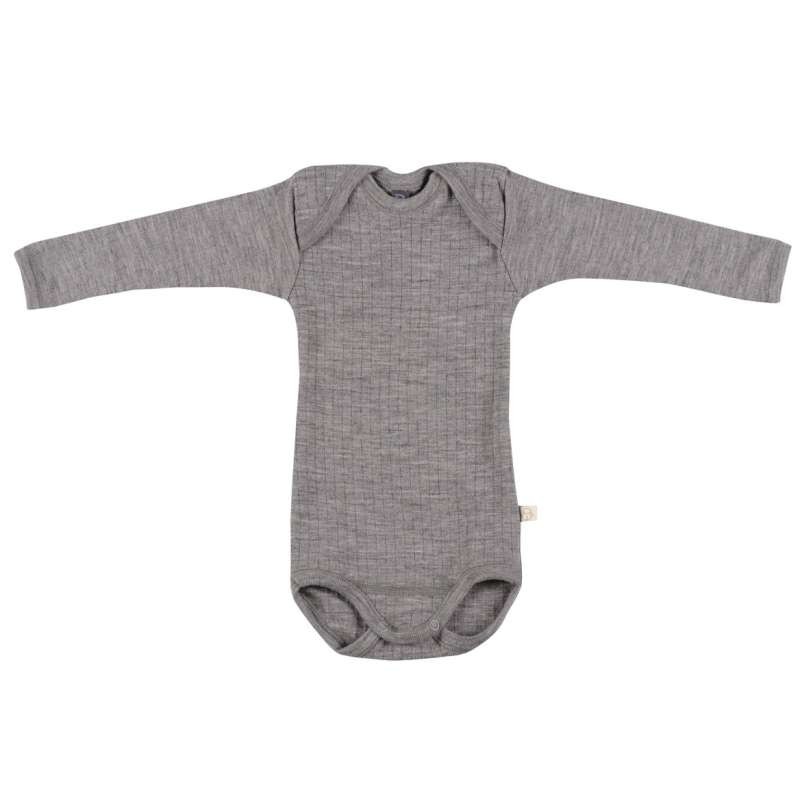 Body long sleeved, wool, grey (74-98)