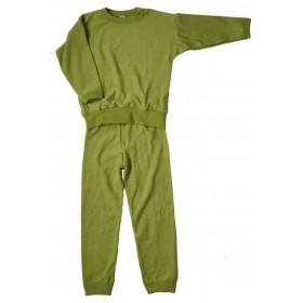 Pyjamas, wool, green (98-140)