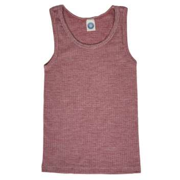 Undershirt, wool/cotton/silk, wine red (104-152)