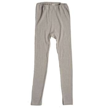 Legging, wool/silk/cotton, silver grey (92-152)