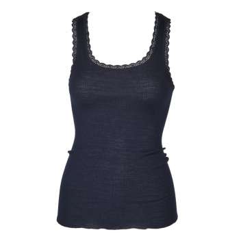 Undervest, wool/silk, night blue (XS-L)