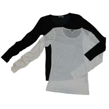 Shirt long sleeved, organic silk (S-XL)