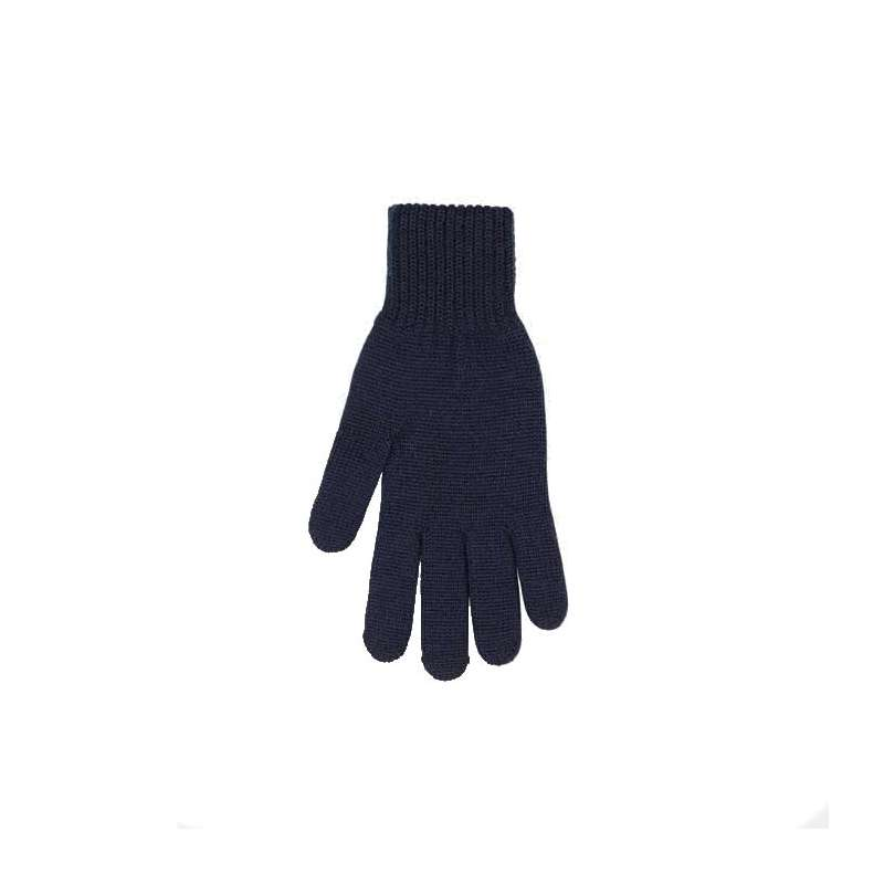 Gloves, wool, navy (8-9)