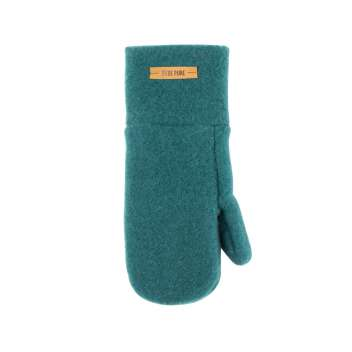 Mittens, wool fleece, green (3-6)
