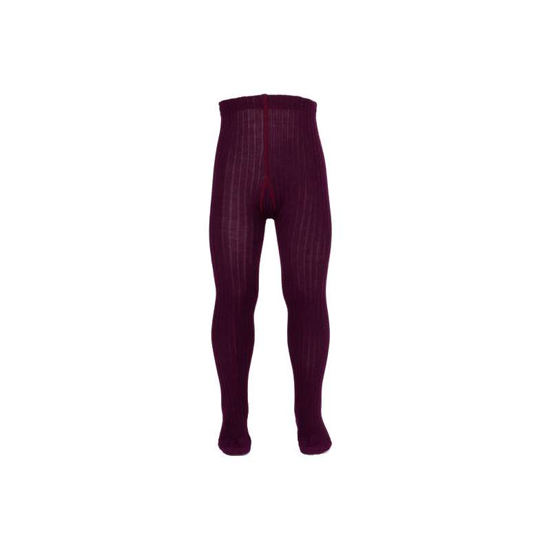 Tights , wool, wine red (80-146)