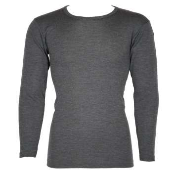 Shirt long sleeved, wool/silk, grey (S-XXL)