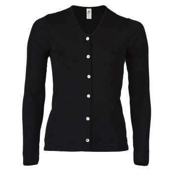 Cardigan, wool/silk, black (34-48)