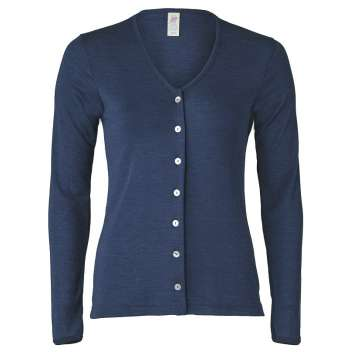 Cardigan, wool/silk, navy (34-48)