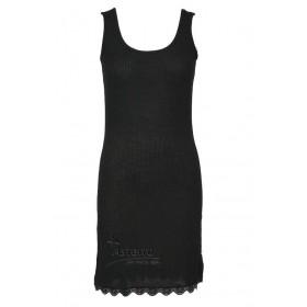 Onderjurk zonder mouw, wol/zijde, zwart (XS-L)