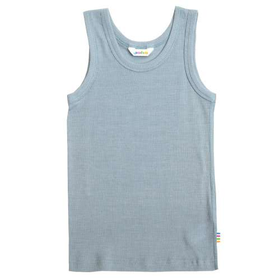 Undervest, wool/silk, mountain spring blue (90-150)