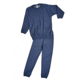 Pyjamas, wool, blue (98-140)