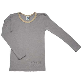 Shirt lange mouw, wol/zijde, drijfhout (92-152)