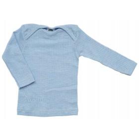 Shirt lange mouw, wol/zijde/katoen, blauw (50-80)