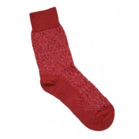 Sokken, wol, Noorwegen rood (36-41)