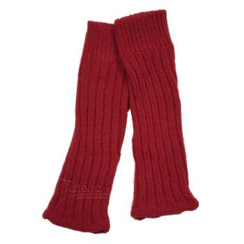 Leg warmers, wool, red