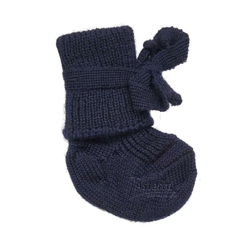 New born socks, wool, blue
