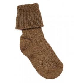 Socks, camel wool, brown (15-22)