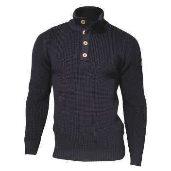 Sweater, merino wool, navy (S-2XL)