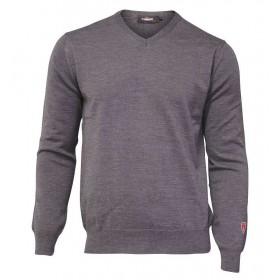 Sweater, merino wool, grey (S-2XL)