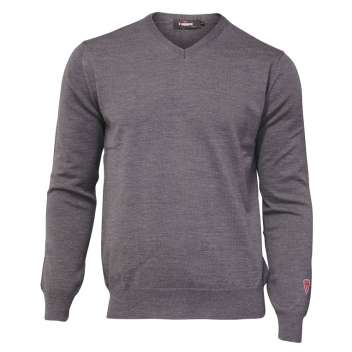 Sweater, merino wool, grey (S-2XL)