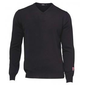 Sweater, merino wool, black (S-2XL)