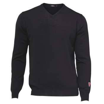 Sweater, merino wool, black (S-2XL)