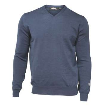 Sweater, merino wool, steel blue (S-2XL)