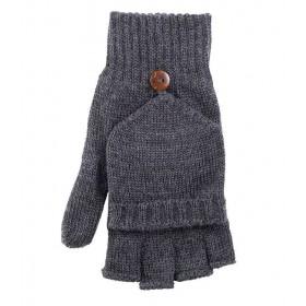 Kinderhandschoen of want, wol, antraciet (4-6)