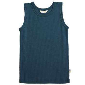 Undershirt, wool, petrol (100-150)