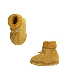 booties, wool fleece, golden yellow (60-90)