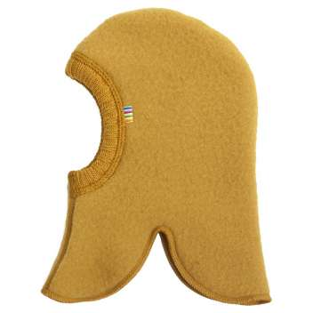 Balaclava, wool fleece, golden yellow (50-54 cm)