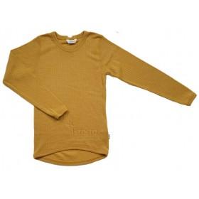 Shirt lange mouw, wol, goudgeel (80-170)