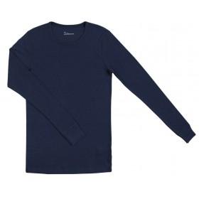 Shirt lange mouw, merinowol, blauw (XS-XXL)